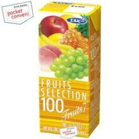 クーポン配布中★エルビー フルーツセレクションフルーツセブン100%200ml紙パック 24本入(果汁100%ジュース フルーツ7)