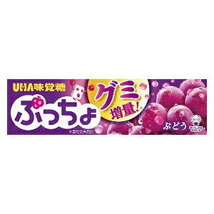 エントリー&リピート購入で最大1000ポイント★味覚糖10粒ぷっちょ ぶどう10本入