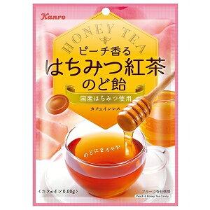 カンロ75gピーチ香るはちみつ紅茶のど飴6入