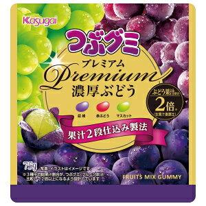 春日井製菓つぶグミPremium濃厚ぶどう75g×10袋