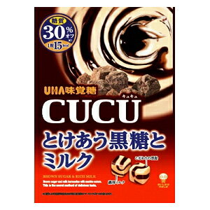 味覚糖80gCUCU とけあう黒糖とミルク6袋入(CUCU)