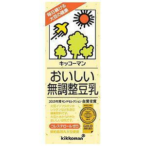 おいしい無調整豆乳 200ml ×18本 キッコーマン