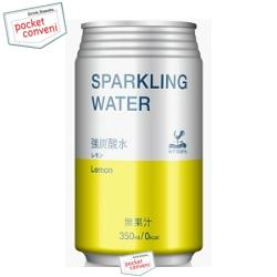 富永貿易 神戸居留地ソーダ炭酸水レモン350ml缶 24本入