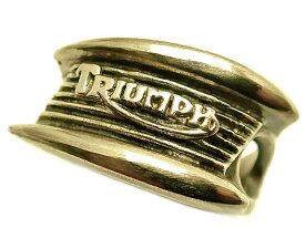 トライアンフ 真鍮リング TRIUMPH ロゴマーク シルバー925/バイク/バイカー/金色/ゴールド/指輪