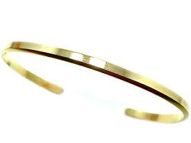 <約3mm幅>【特殊形状10金バングル】無垢 ローズゴールドブレスレット K10