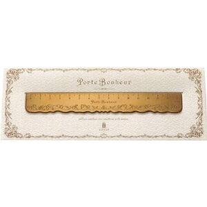 すずらん真鍮定規 真鍮製定規 真鍮定規 可愛い定規 高級定規 15cm