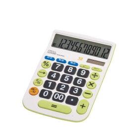 電卓 大きい ボタン 画面 税金 消費税 電卓 12桁 ソーラー 簿記