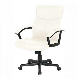 オフィスチェア ホワイト レザー レザーチェア 事務 事務用椅子