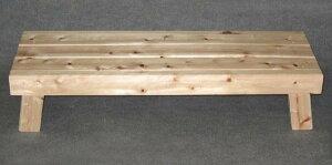 ひのき ベンチ 低い 星野 大 足付きすのこ 玄関台 踏み台 花台 木製
