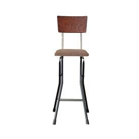 ルネセイコウ 日本製 折りたたみ椅子 フォールディング アッシュウッドチェア ハイ ダークブラウン/ブラック AWC-64