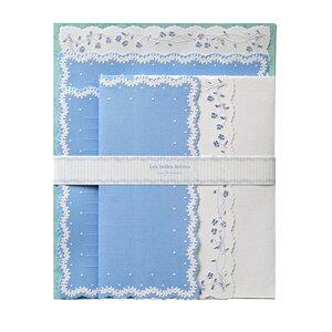 クリエイトジー ダイカットレターセット 花柄 ブルー×ホワイト CGL135R 6セット