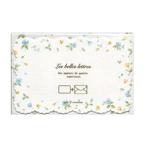 クリエイトジー ダイカットミニレターセット 青小花柄 CGL731 6セット