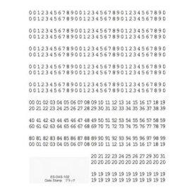 TSUMEKIRA ツメキラ ネイルシール es Date Stamp ブラック ES-DAS-102