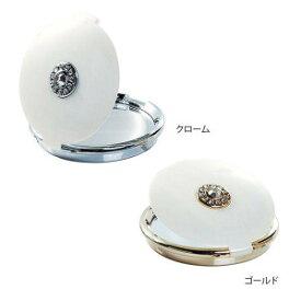 SENKO センコー ホワイトパール コンパクトミラー クローム・514492