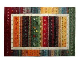 トルコ製 ウィルトン織り カーペット ギャッベ 約160×230cm 2352539