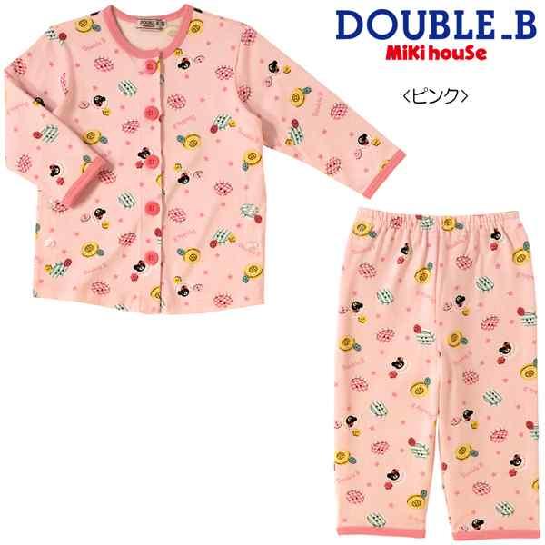 クリアランスSALE Double_B(ダブルB)ボタンプリントの長袖パジャマ (80-130cm)【61-7302-975】