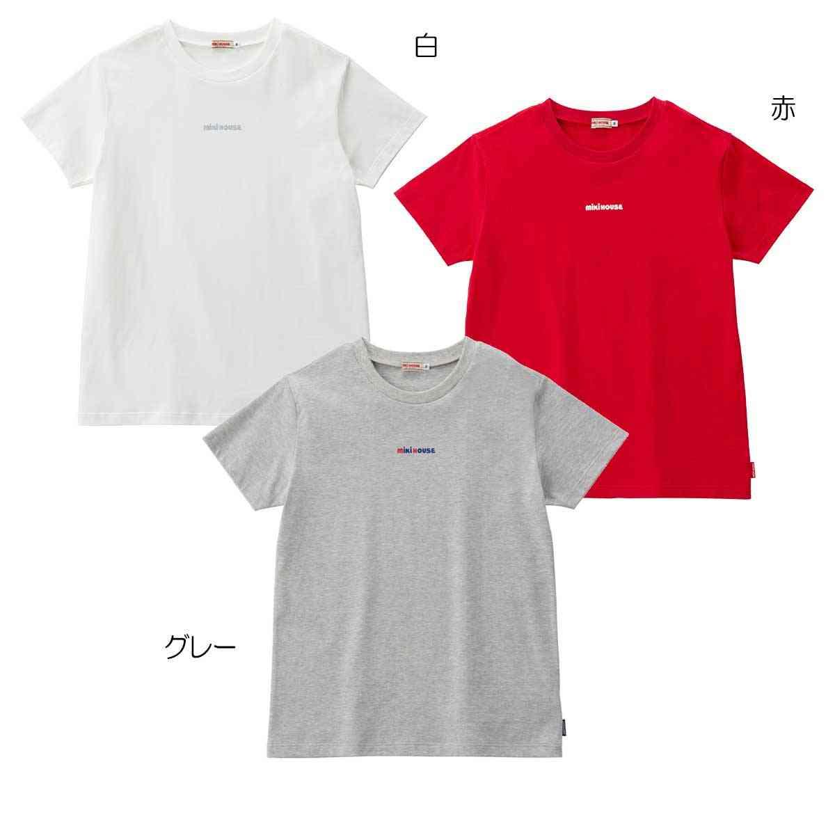 ☆ EveryDay mikiHOUSE(エブリデイミキハウス)ロゴプリント半袖Tシャツ 大人用 S-L 12-5271-268