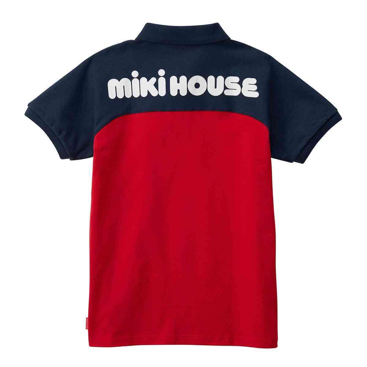 mikiHOUSE(ミキハウス)バックロゴプリント半袖ポロシャツ 大人用 S-L 12-5572-268