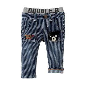 【セール30%OFF】ダブルビー Double_B mikihouse ポケットに刺繍つきストレッチパンツ 80cm [63-3203-957] md50