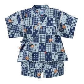 ミキハウス mikihouse プッチー 市松柄甚平スーツ 80-100cm 12-7503-459