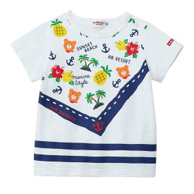 ホットビスケッツ バンダナプリント半袖Tシャツ 80-110cm 72-5202-457【ラッキーシール対応】