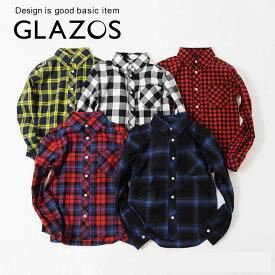 スーパーセール期間20%OFFクーポン対象 ネルチェックシャツ ジュニア 男の子 子供服 120-170cm グラソス GLAZOS 3793203【ラッキーシール対応】 pkss
