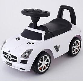 (ベビー足けり 乗用玩具 自動車) メルセデスベンツSLS AMG ホワイト