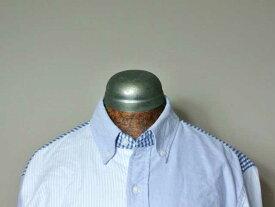 【J.CREW】スリムフィット・ウォッシュド・オックスフォードシャツ・ミックスパターン/blue gingham stripe (Jクルー・ボタンダウンシャツ・アイビー・アメトラ)
