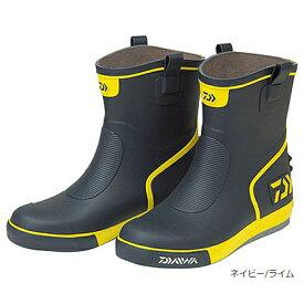 ダイワ ショートネオデッキブーツ DB−2410 M ネイビー/ライム(東日本店)