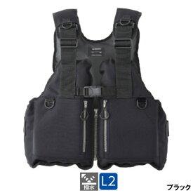 シマノ ロックショアベスト フリー ブラック [VF-029U]