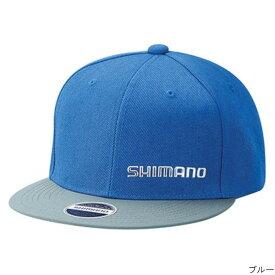 【12/5 最大P50倍!】シマノ フラットブリムキャップ CA-091T L ブルー