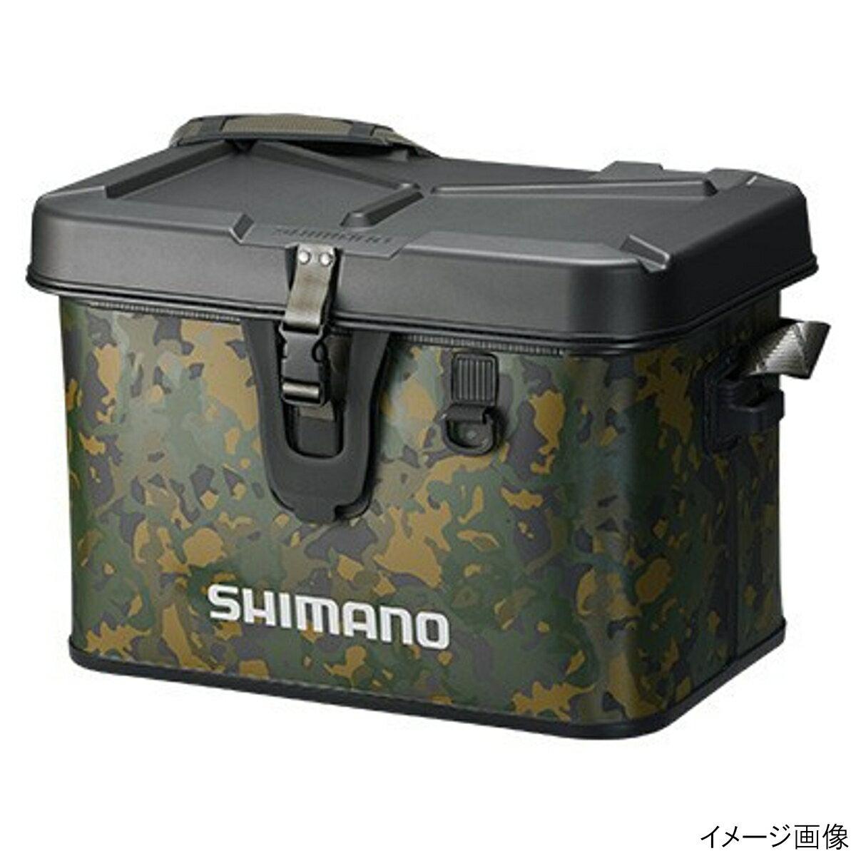 【5月25日は楽天カードがお得!エントリーで最大35倍!】シマノ タックルボートバッグ(ハードタイプ) BK-001Q 27L ベージュウィードカモ