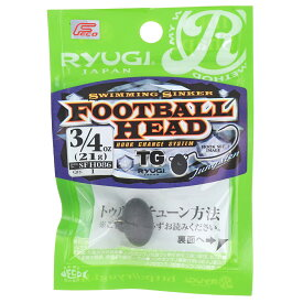 ささめ針 RYUGI フットボールヘッド TG SFH086 3/4oz【ゆうパケット】
