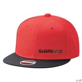 シマノ フラットブリムキャップ CA-091T L レッド