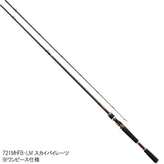 Daiwa's Tees bait casting model 721MHFB-LM sky Pirates