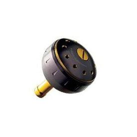 シマノ 夢屋 アルミラウンド型パワーハンドルノブ ブラック/ゴールド S ノブ TypeA用