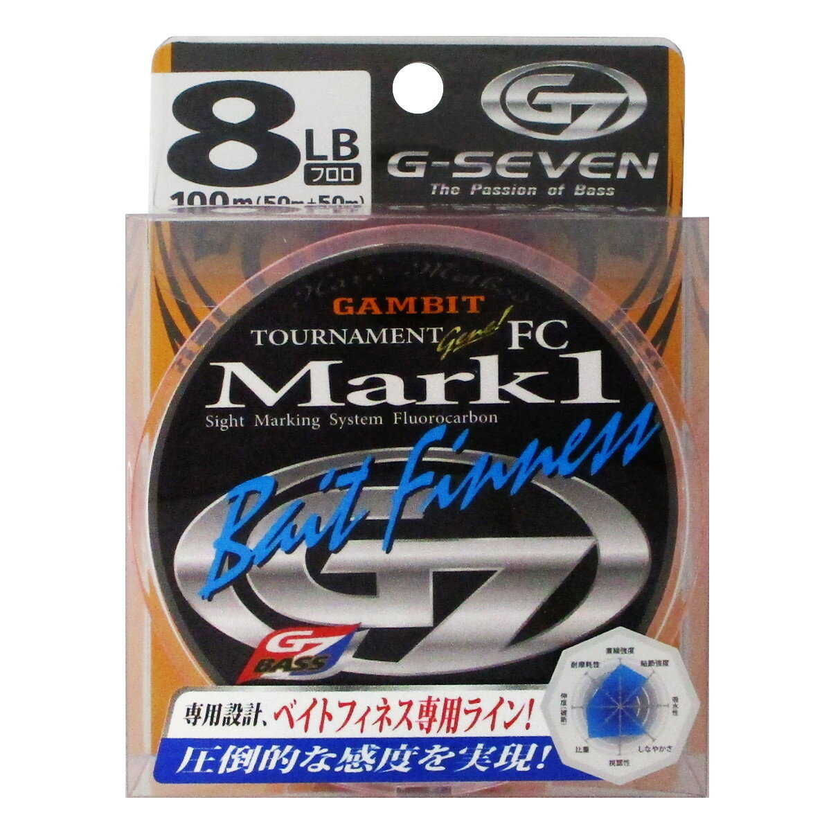 ラインシステム G7 トーナメントジーン MARK1 ベイトフィネス G3108B 100m 8lb【ゆうパケット】
