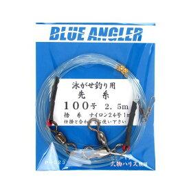 ケイスタイル 泳がせ釣り用先糸(捨糸付) P−023 ハリス100号 2.5m【ゆうパケット】