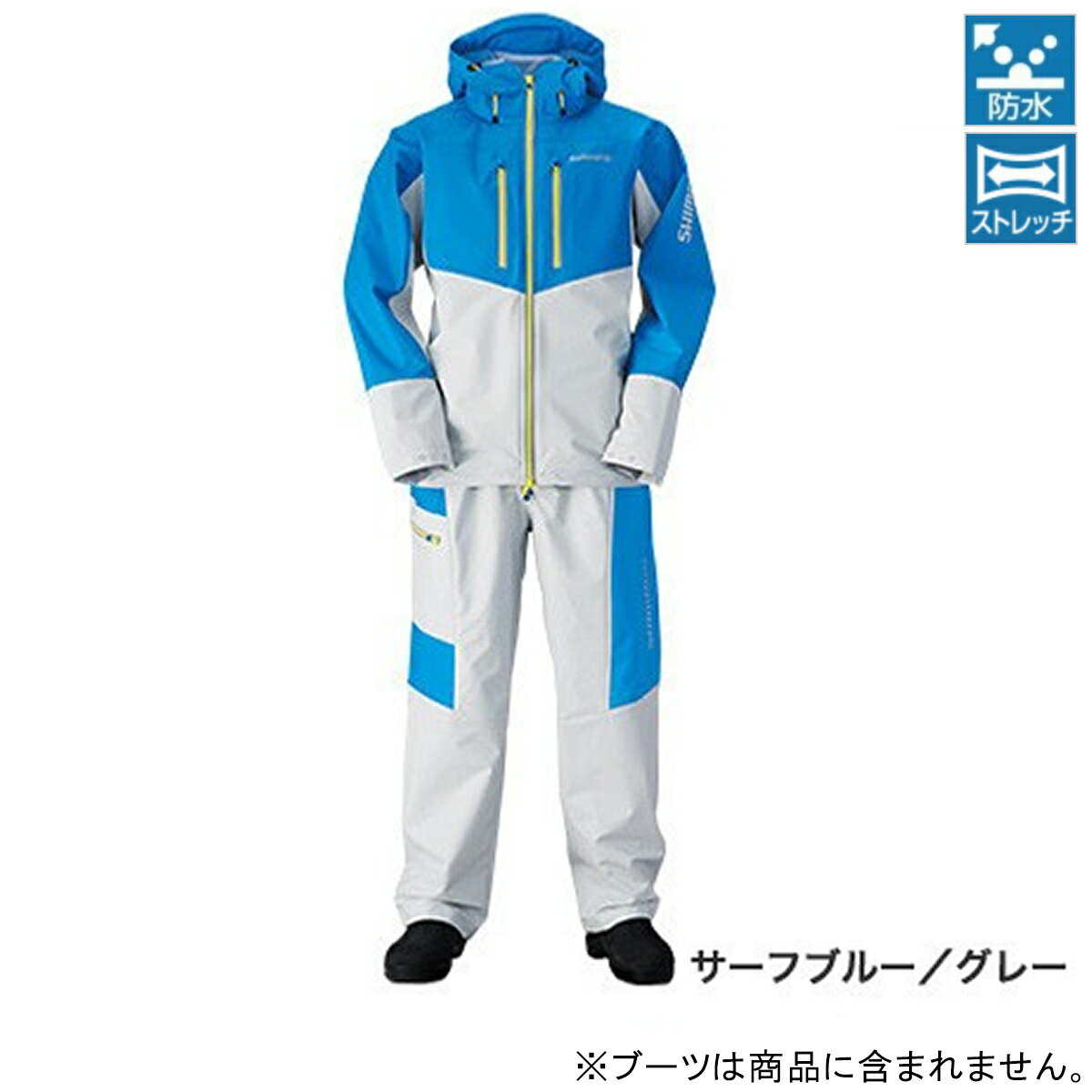 シマノ マリンライトスーツ RA-034N M サーフブルー/グレー