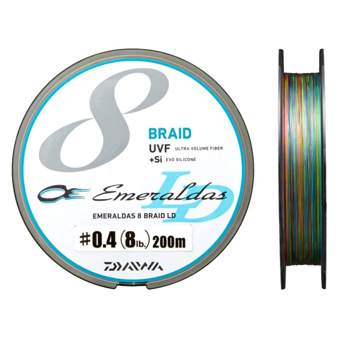 ダイワ(Daiwa) UVF エメラルダスセンサー 8ブレイドLD+Si 200m 0.4号 ブルー/ピンク/グリーン/パープル/オレンジ