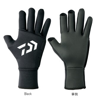 Daiwa chloroprene glove three cut DG-7107W XL Black