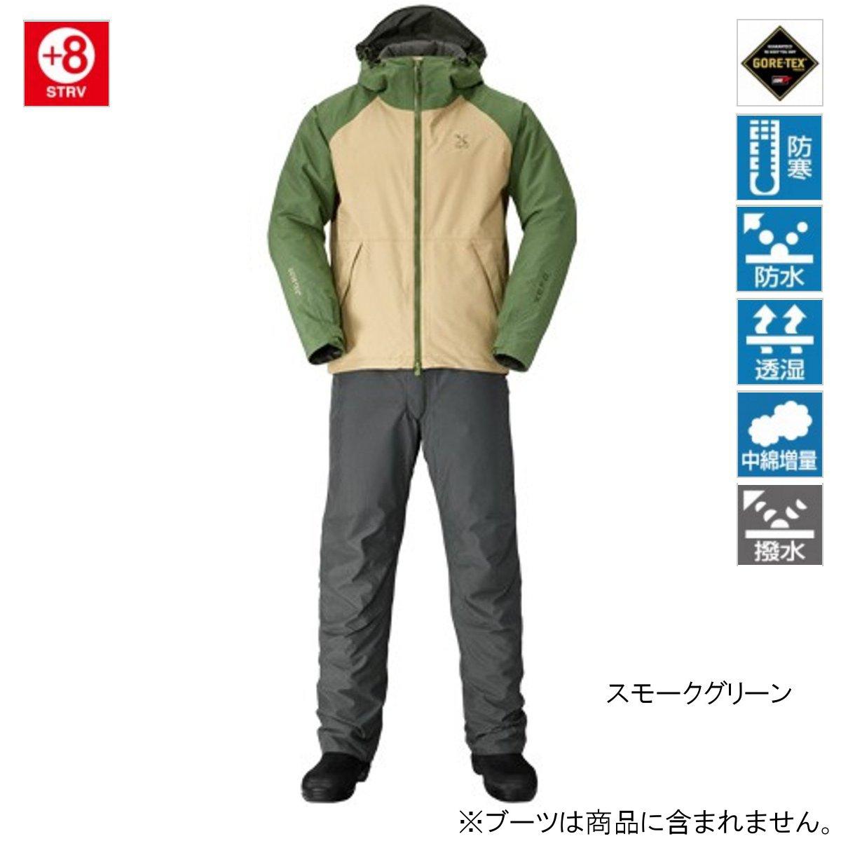 【訳あり 売り尽し 50%OFF】 シマノ XEFO GORE-TEX COZY SUIT RB-214P L スモークグリーン