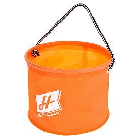 【マラソン&買いまわり10倍W開催!】H.B コンセプト EVA 水くみ丸バケツ 18cm オレンジ H.B concept