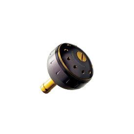 シマノ 夢屋 アルミラウンド型パワーハンドルノブ ブラック/ゴールド M ノブ TypeB用