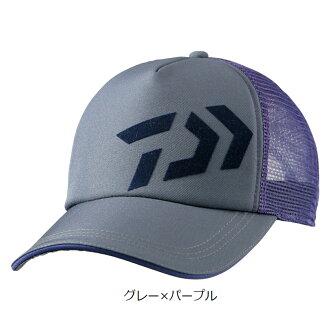 Daiwa (Daiwa) cotton mesh cap DC-6205-free gray X purple