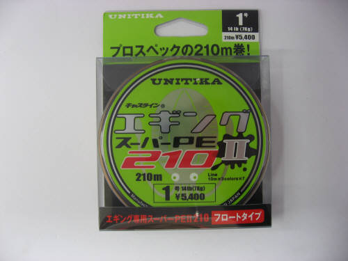 ユニチカ(UNITIKA) エギングスーパーPE2 210m 1号