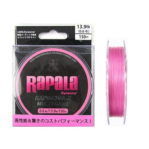 ラパラ・ジャパン ラピノヴァ・エックス マルチゲーム 150m 13.9lb ピンク【ゆうパケット】