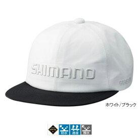 【現品限り】シマノ GORE-TEX フラットブリムキャップ CA-011R フリー ホワイト/ブラック