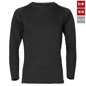 【ブラックフライデー期間中最大P32倍!】タカミヤ REAL METHOD シャギーボアクルーネックコンプレッションシャツ L ブラック (防寒)