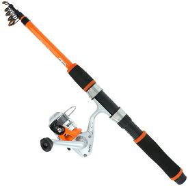 スマイルシップ 釣り竿 セット180cm オレンジ サビキ釣り ちょい投げ釣り 釣り竿